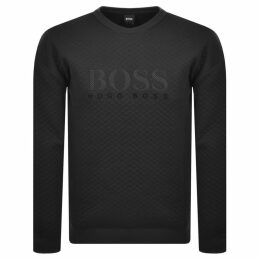BOSS HUGO BOSS Crew Neck Logo Sweatshirt Black