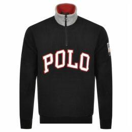 Ralph Lauren Half Zip Logo Fleece Sweatshirt Black