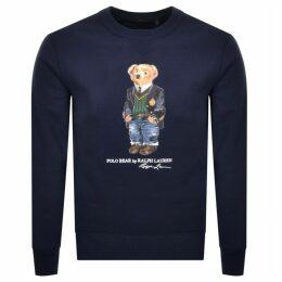 Ralph Lauren Crew Neck Bear Sweatshirt Navy