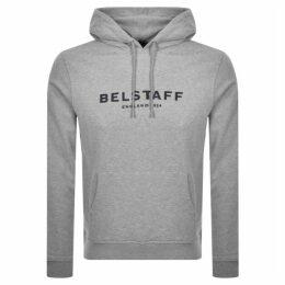 Belstaff Pullover Logo Hoodie Grey