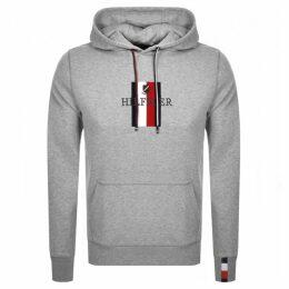 Tommy Hilfiger Logo Hoodie Grey