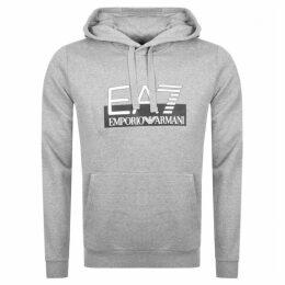EA7 Emporio Armani Visibility Logo Hoodie Grey
