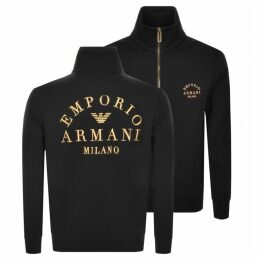 Emporio Armani Full Zip Sweatshirt Black