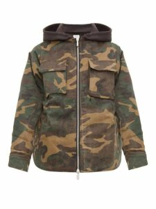 Rhude - Camouflage Print Hooded Jacket - Mens - Green Multi