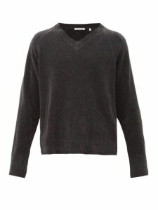Our Legacy - Anthracite V Neck Cotton Sweater - Mens - Grey