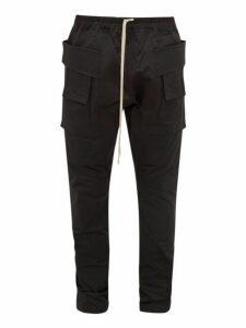 Rick Owens Drkshdw - Creach Faille Cargo Trousers - Mens - Black