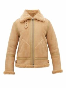 Acne Studios - Ian Shearling Aviator Jacket - Mens - Beige