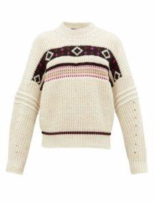 Isabel Marant - Cooper Diamond Jacquard Sweater - Mens - Cream