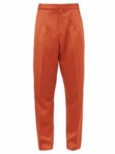 Marques'almeida - Oversized Virgin Wool Trousers - Mens - Orange