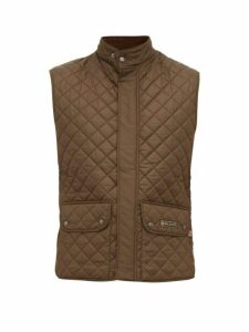 Belstaff - Diamond Quilted Shell Gilet - Mens - Khaki