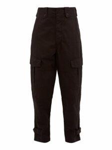 Isabel Marant - Neil Cotton Gabardine Cargo Trousers - Mens - Black