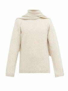 Deveaux - Scarf Neck Cashmere Sweater - Mens - Cream