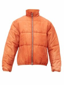 Our Legacy - Walrus Puffa Faded Silk Blend Jacket - Mens - Orange