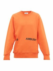 Ambush - Logo Print Cotton Sweatshirt - Mens - Orange
