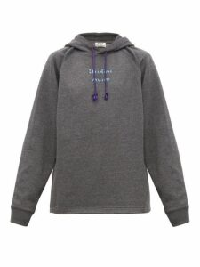 Acne Studios - Fenton Video Print Jersey Hooded Sweatshirt - Mens - Grey