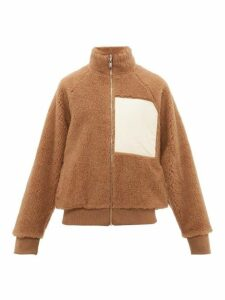 Jil Sander - Chest Patch Reversible Shearling Jacket - Mens - Brown