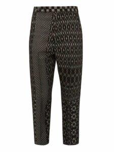 Haider Ackermann - Cropped Jacquard Trousers - Mens - Grey