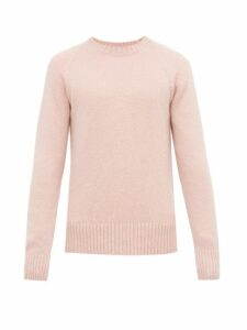 Ami - Raglan Sleeve Crew Neck Sweater - Mens - Pink