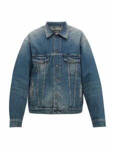 Balenciaga - Paris Embroidered Denim Jacket - Mens - Indigo