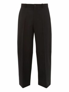 Balenciaga - Cropped Wool Tapered Trousers - Mens - Black