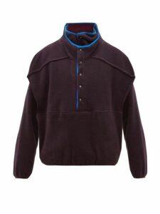 Y/project - Double-layered Fleece Sweatshirt - Mens - Purple