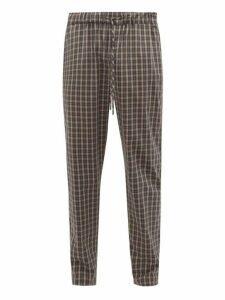 Hanro - Checked Cotton Poplin Pyjama Trousers - Mens - Multi
