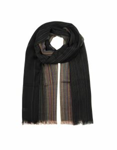 Paul Smith Designer Men's Scarves, Multi Artist Graduation Men's Scarf