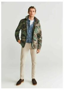 Camo-print safari jacket