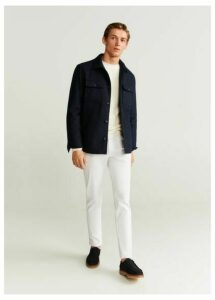 Wool quilted jacket