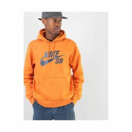 Nike SB Icon Essential Pullover Hoodie - Cinder Orange/Obsidian (S)