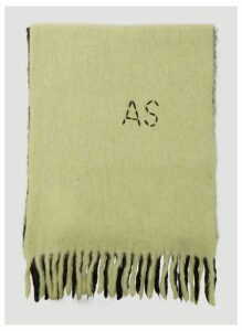 Acne Studios Kelow Dip-Dye Scarf in Yellow size One Size