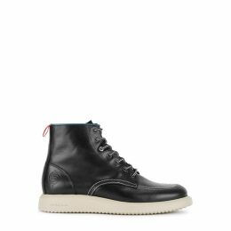 Paul Smith Caplan Black Leather Ankle Boots