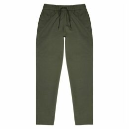 A.P.C. Kaplan Army Green Cotton-blend Trousers