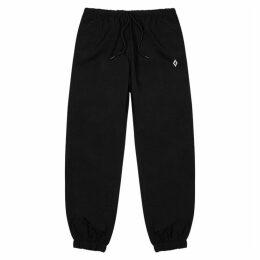 Marcelo Burlon Black Shell Sweatpants
