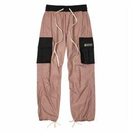 Daniel Patrick M93 Dusty Pink Shell Cargo Trousers