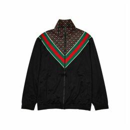 Gucci GG Supreme Panelled Jersey Sweatshirt