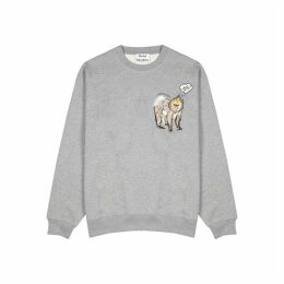 Acne Studios Baboon-embroidered Cotton Sweatshirt