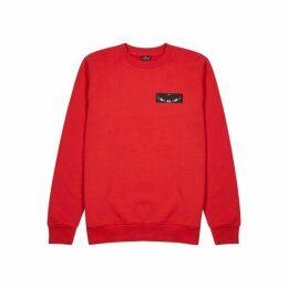Marcelo Burlon Red Cotton Sweatshirt