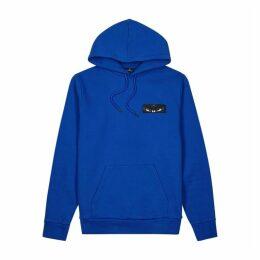 Marcelo Burlon Blue Hooded Cotton Sweatshirt
