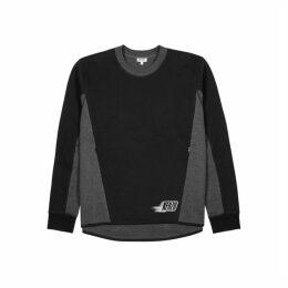Kenzo Black Panelled Cotton-blend Sweatshirt