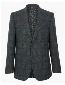 M&S Collection Regular Fit Checked Jacket