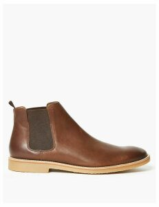 M&S Collection Leather Crepe Sole Chelsea Boots