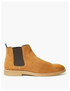M&S Collection Suede Crepe Sole Chelsea Boots
