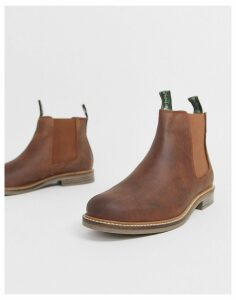 Barbour Farsley leather chelsea boot in tan