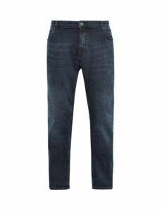 Mens Big & Tall Blue Overdye Blake Slim Fit Jeans, Blue