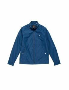 Mens Blue Lightweight Racer Jacket, Blue