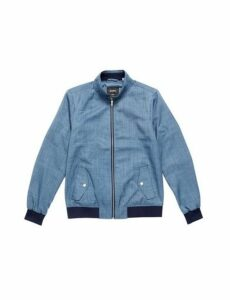 Mens Blue Marl Harrington Jacket, Blue