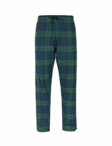 Mens Black Watch Chord Lounge Pants, Black