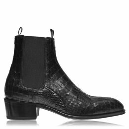 Giuseppe Zanotti Croc Leather Chelsea Boots