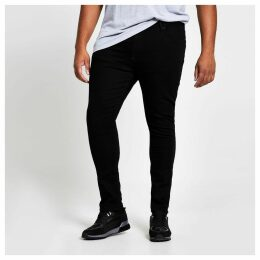 Mens River Island Big and Tall Black super skinny jeans
